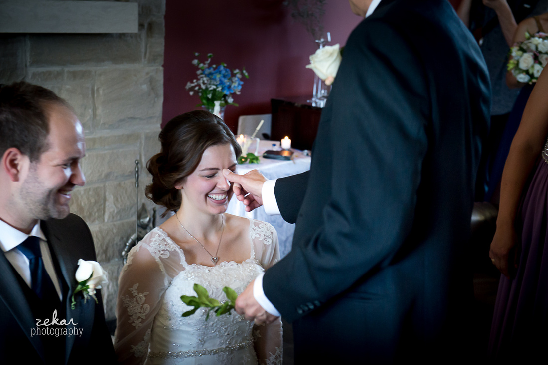 bride being blessed