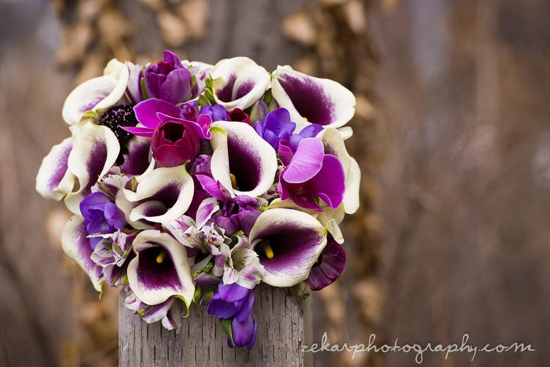 gorgeous purple spring wedding bouquet
