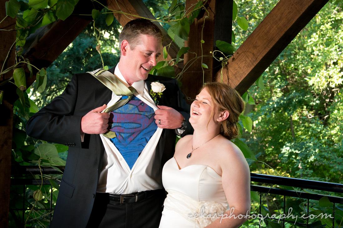 groom super man t-shirt