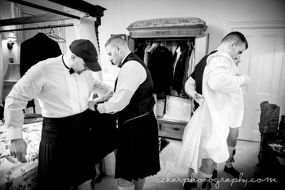 grooms men getting ready