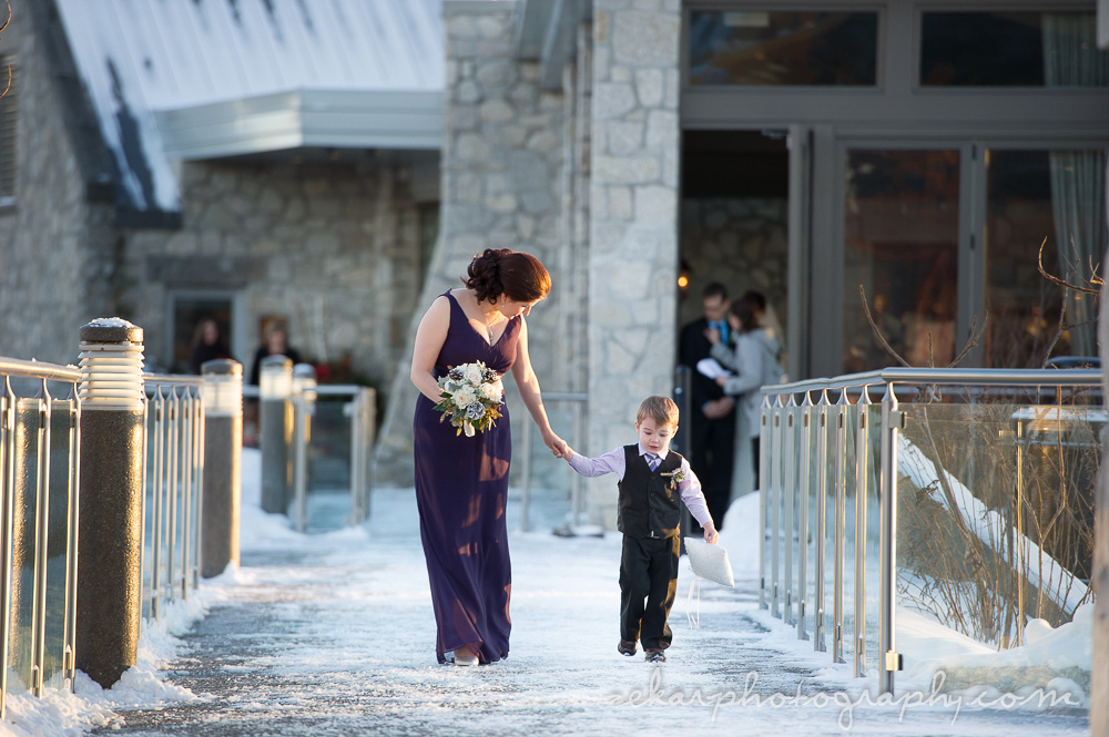 bridesmaid with ring bearer