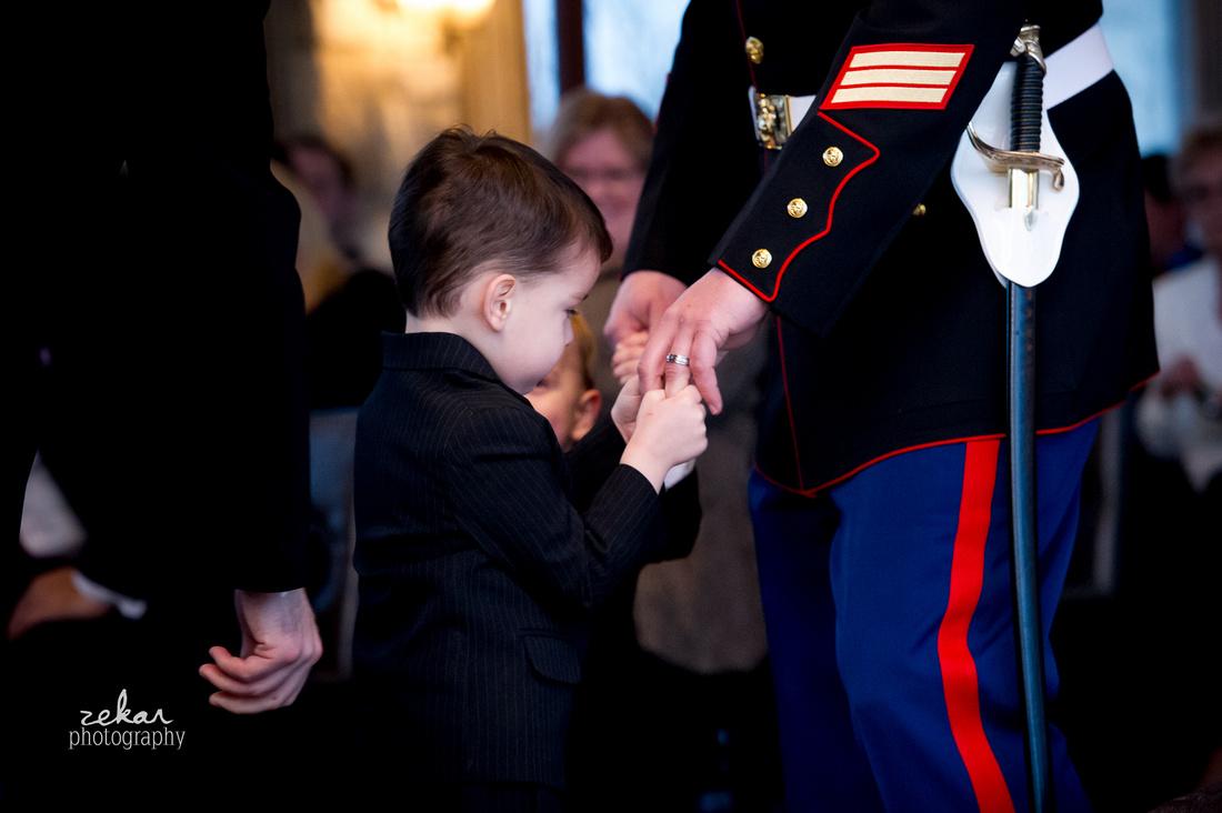 little boy marine solidier