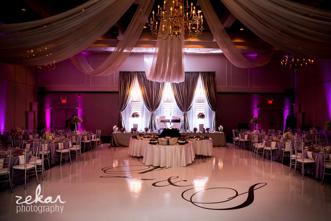 silver, mauve, springtime wedding theme