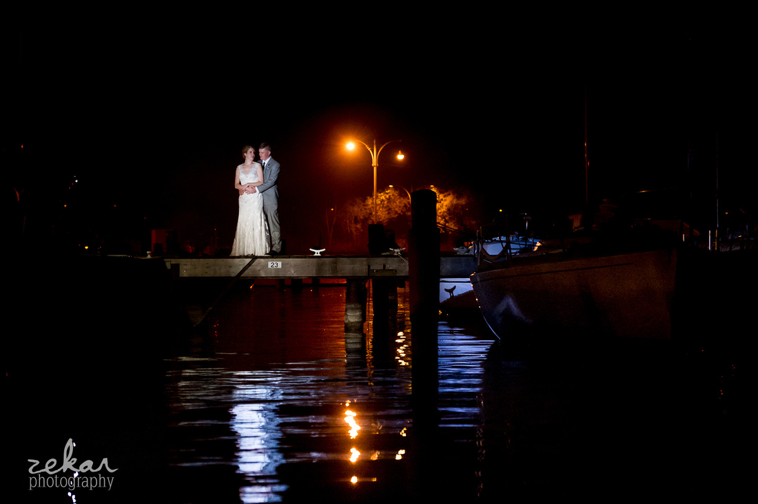 night time bridal picture