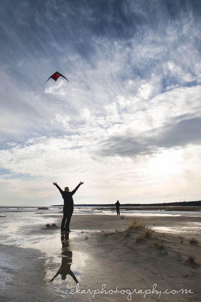 Kite flying engagement shoot