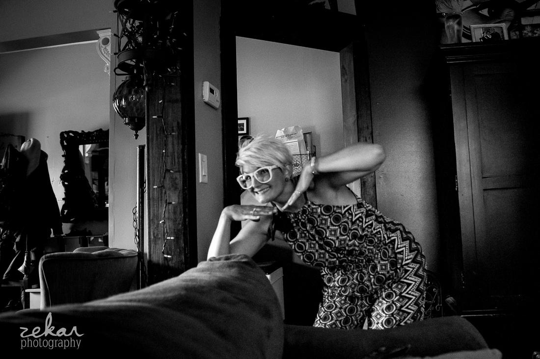 documentary black and white family shoot