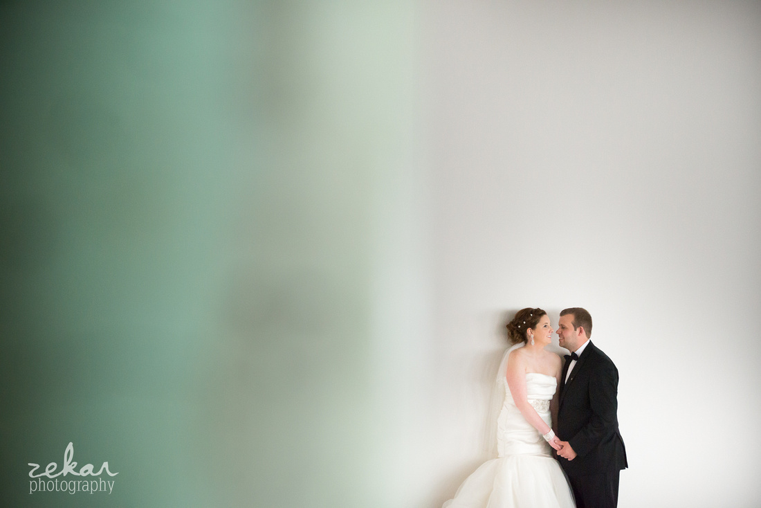 bride and groom on white background
