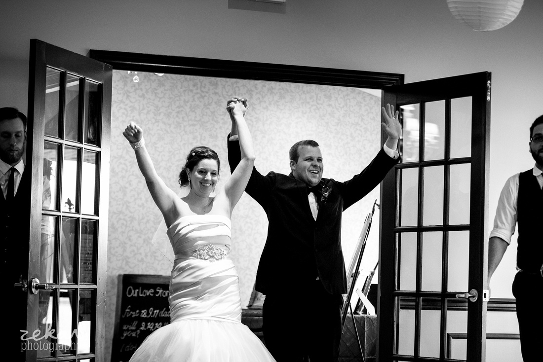 bride and groom introductions