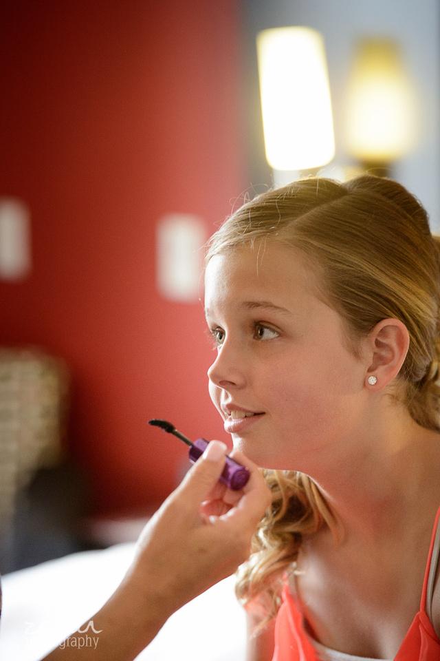 young girl hopeful face wedding day