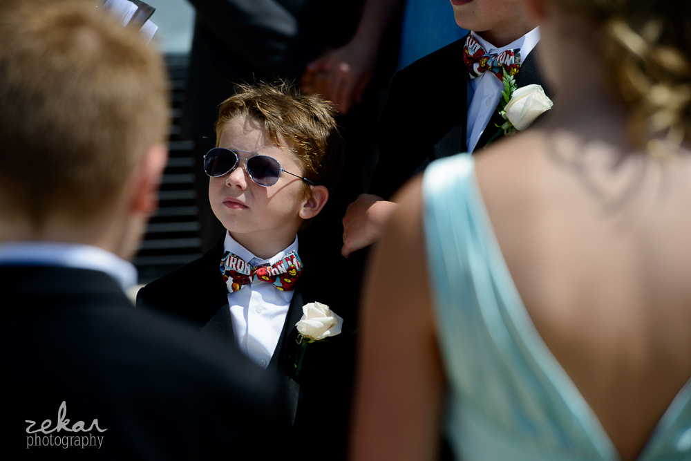 little boy with sunglasses on