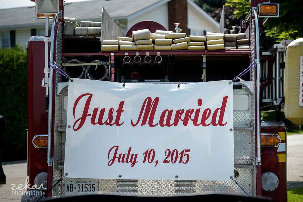 wedding firetruck