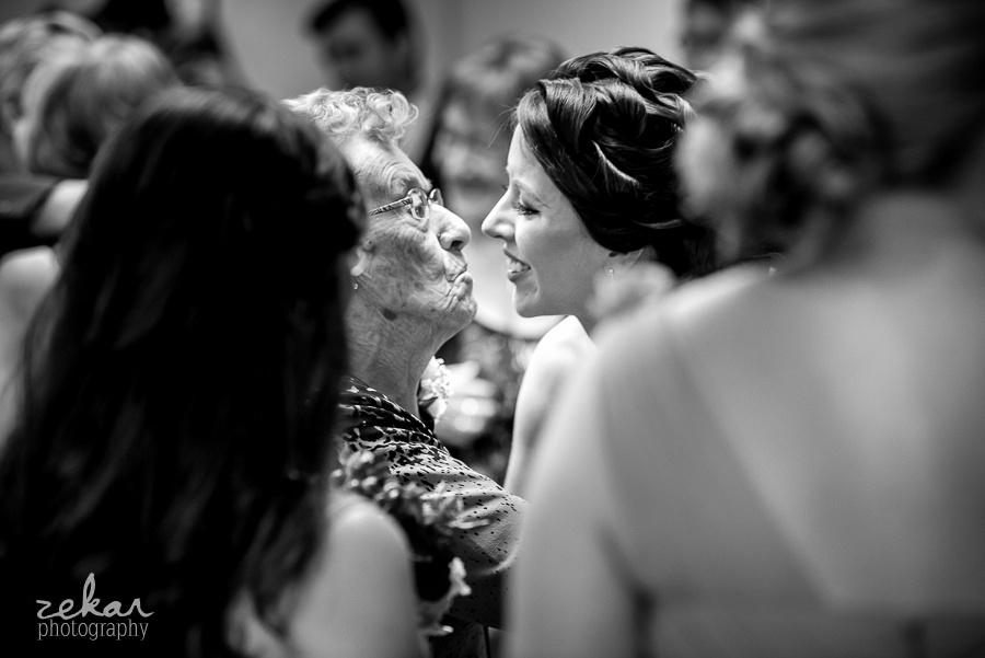 bride kissing grandma