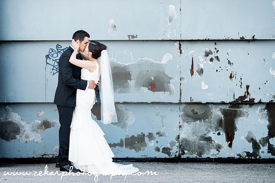 Hamilton Wedding Photography Bride & Groom Yacht Club Industrial Setting