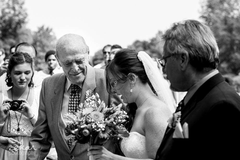 grandfather giving away bride