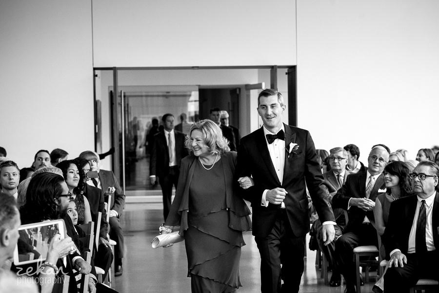 groom walking mom