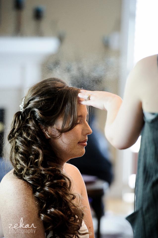 bride hairspray