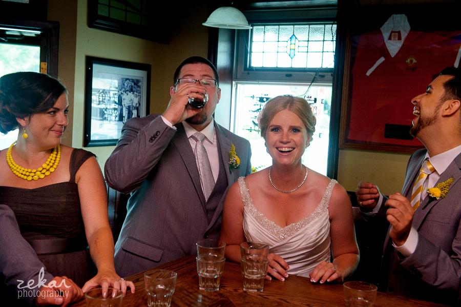 groom taking shot