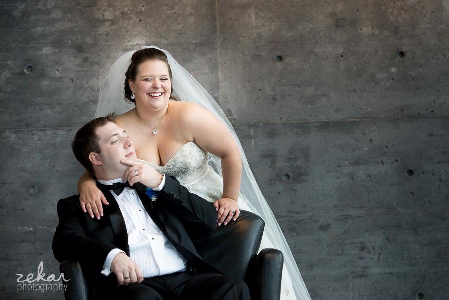 groom sitting in chair