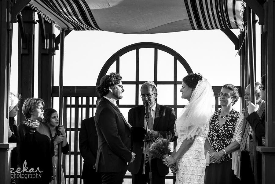 bride and groom chuppah