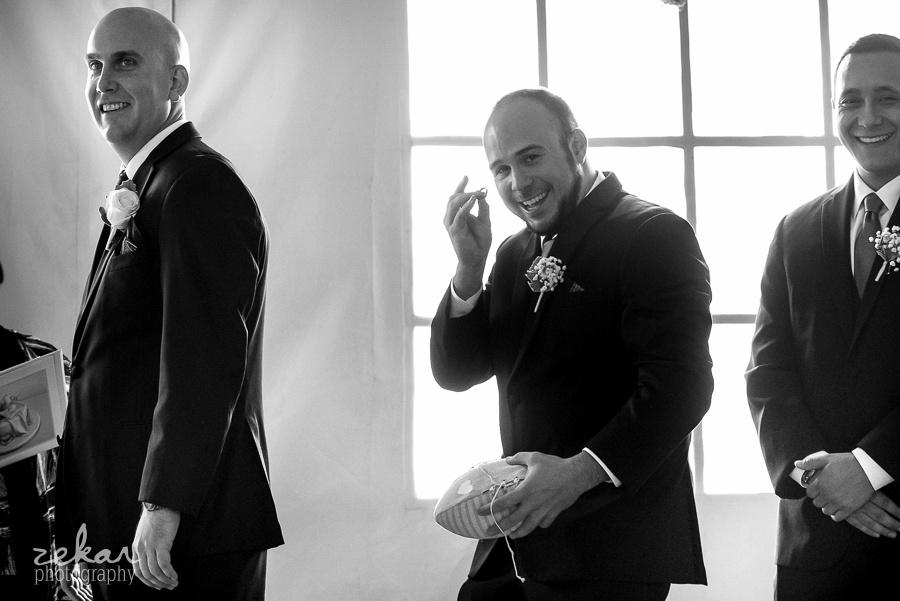 groomsman catching ring