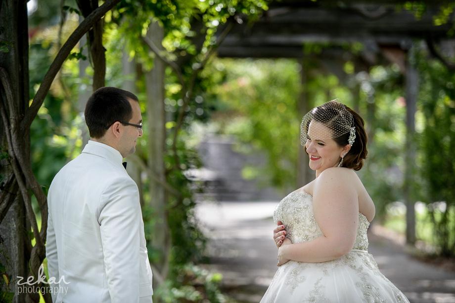 bride flirting with groom