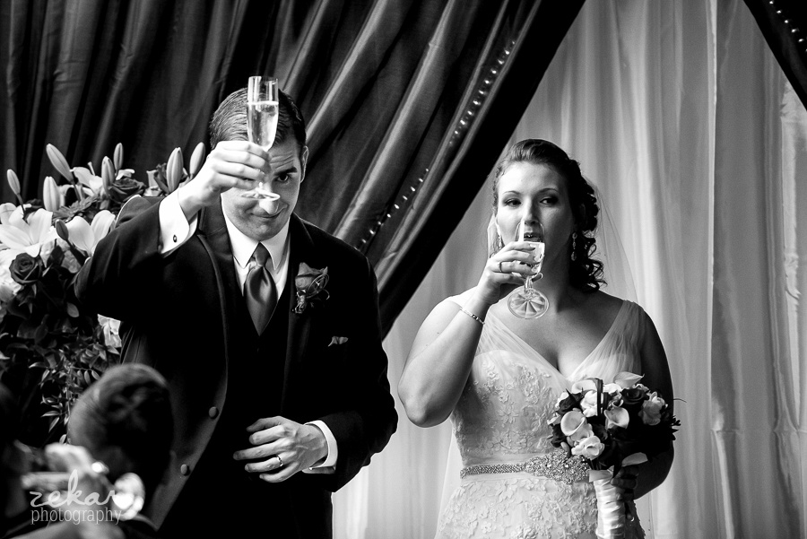 cheers to their guests