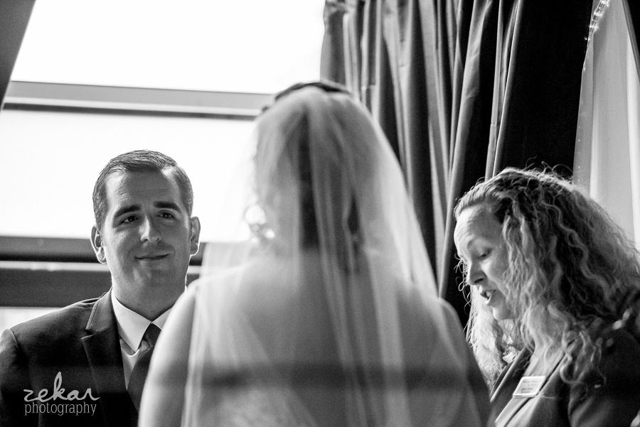 groom eyes loving bride