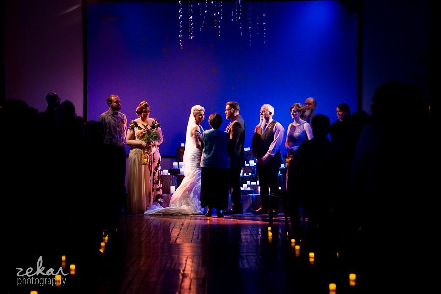 wedding ceremony at night