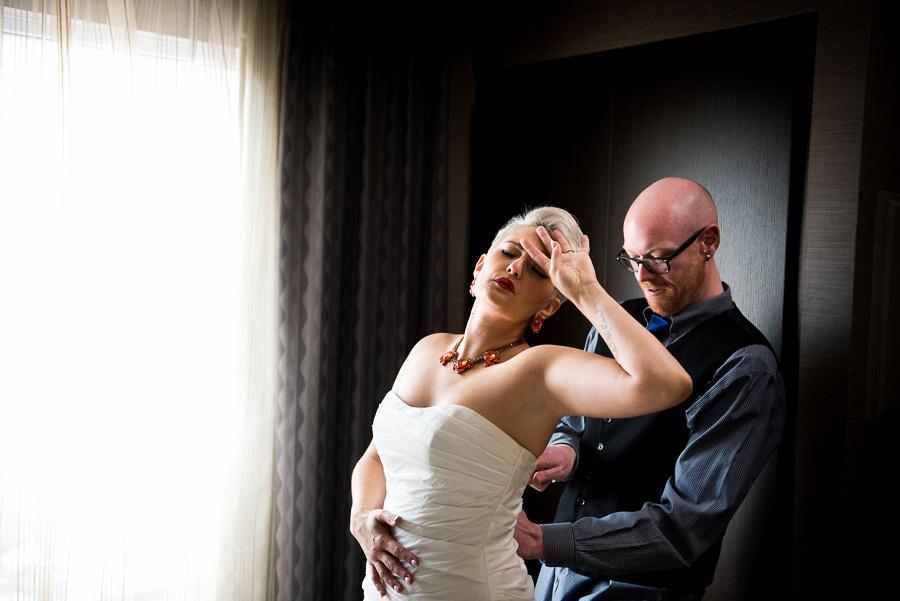 swooning bride
