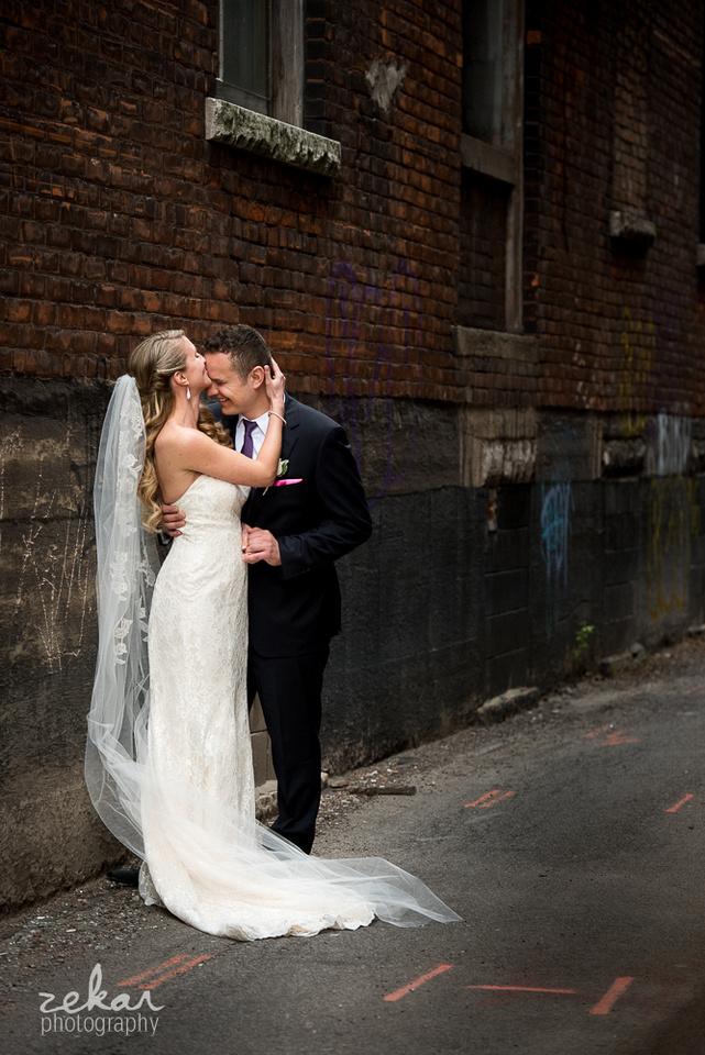 kissing groom