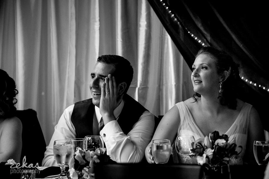 groom reacting to speech