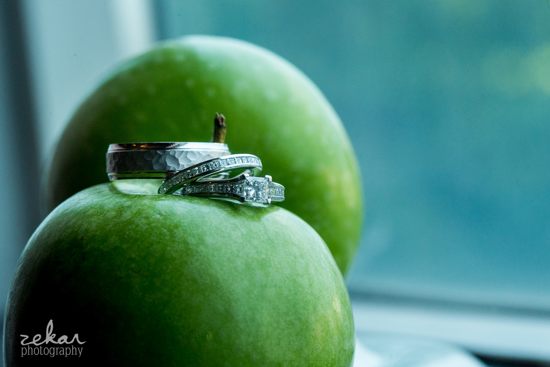 green apples wedding ring