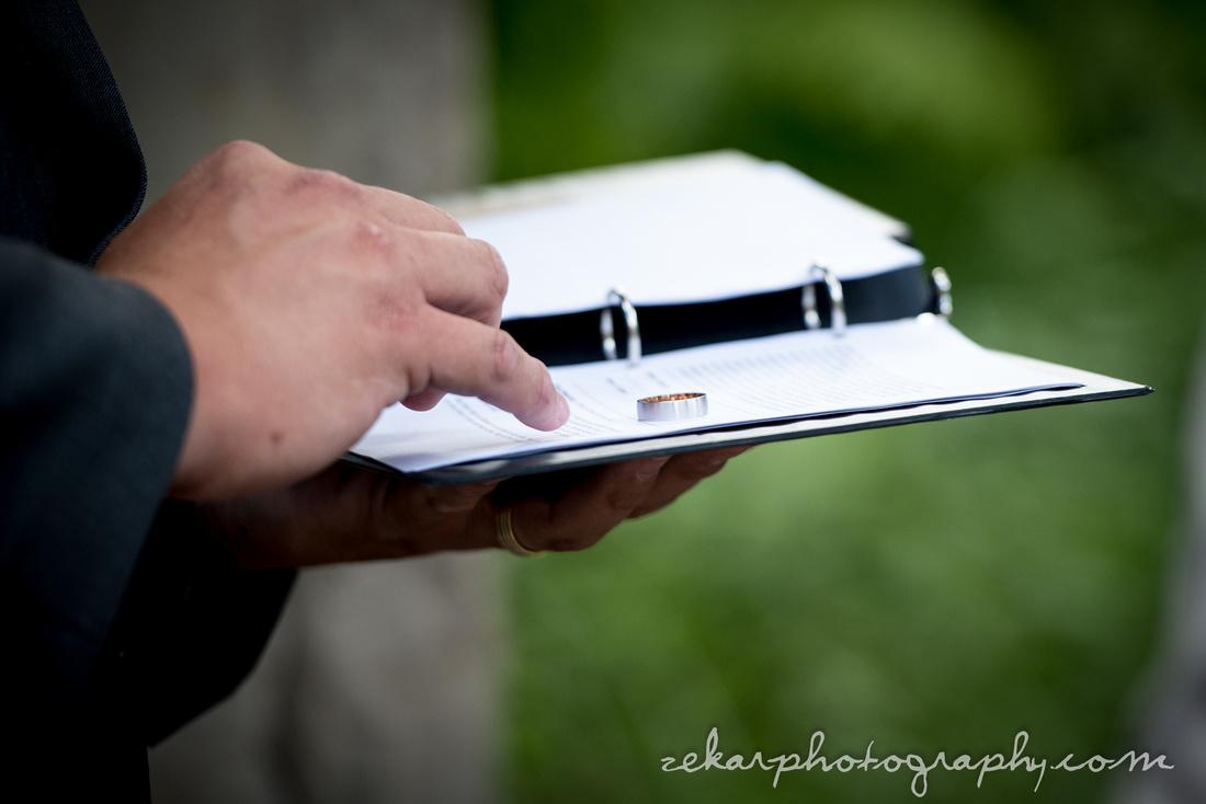 wedding ring on paper