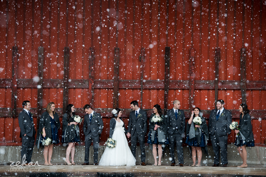 bridal party snow globe