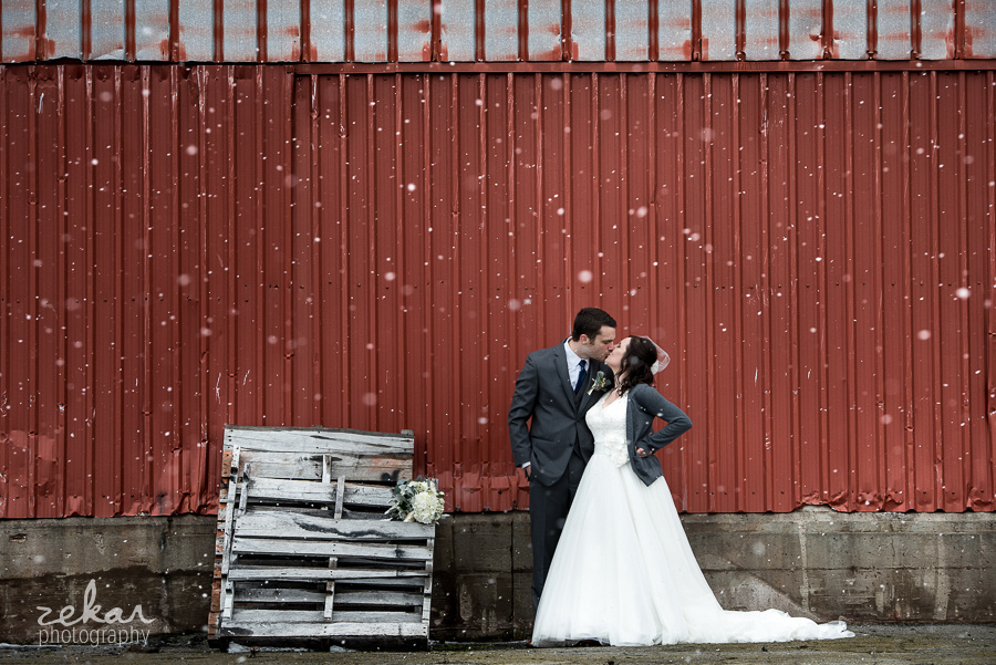 kissing in snow