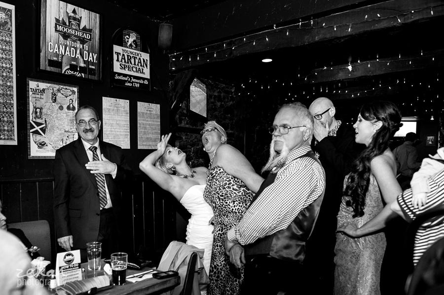 crowd at pub
