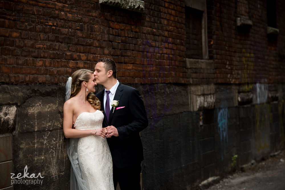 kissing in alley