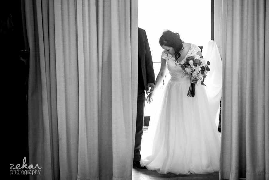 bride going to walk down aisle