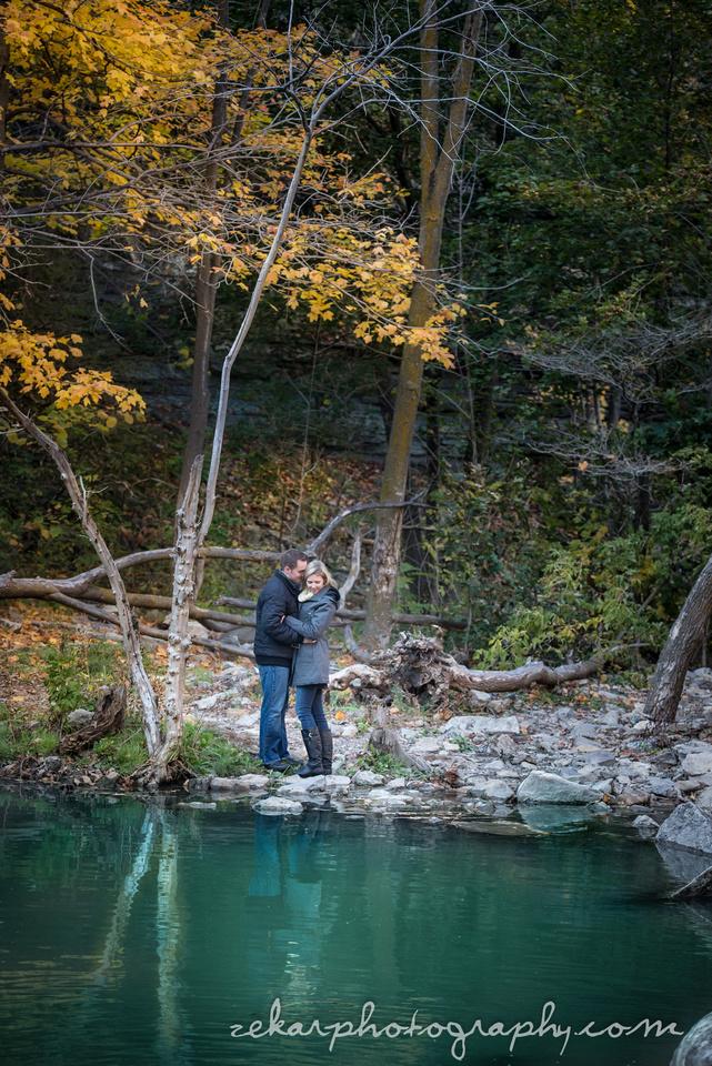 fall engagement shoot near albion falls lake