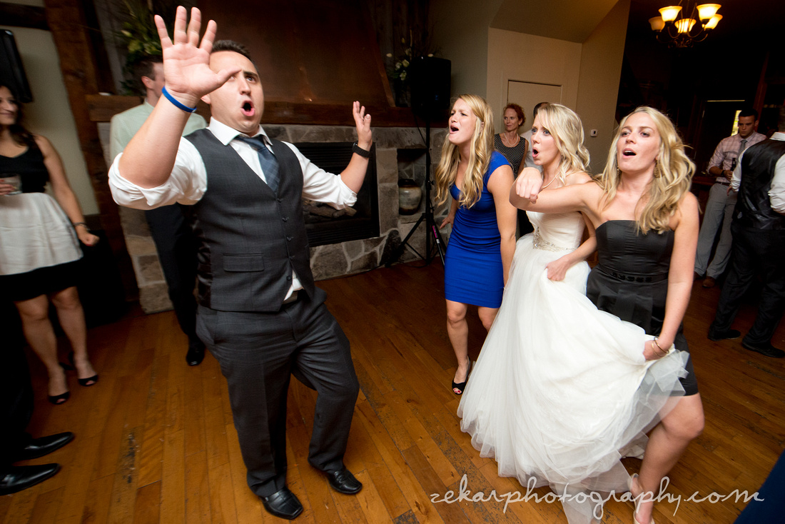 bride and groom dance face