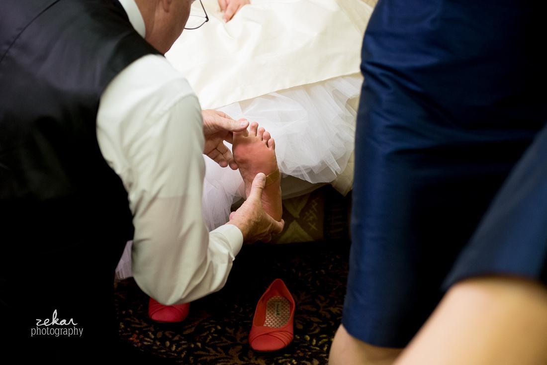 brides foot