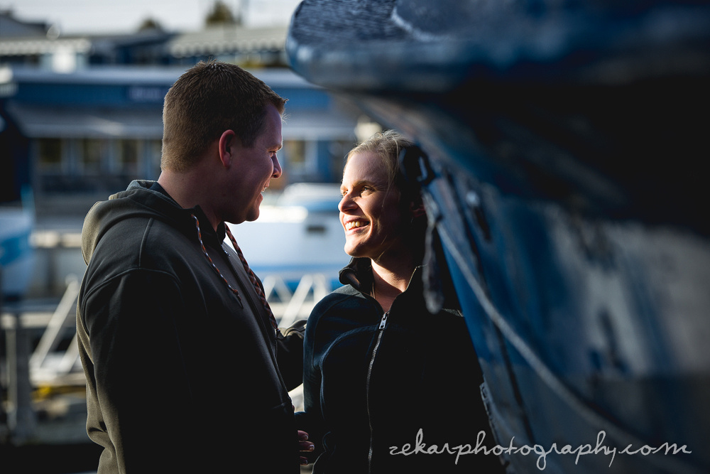 harbour themed engagement shoot