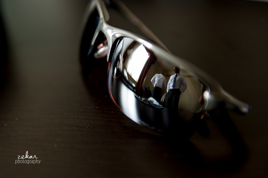 picture of groom in sunglasses