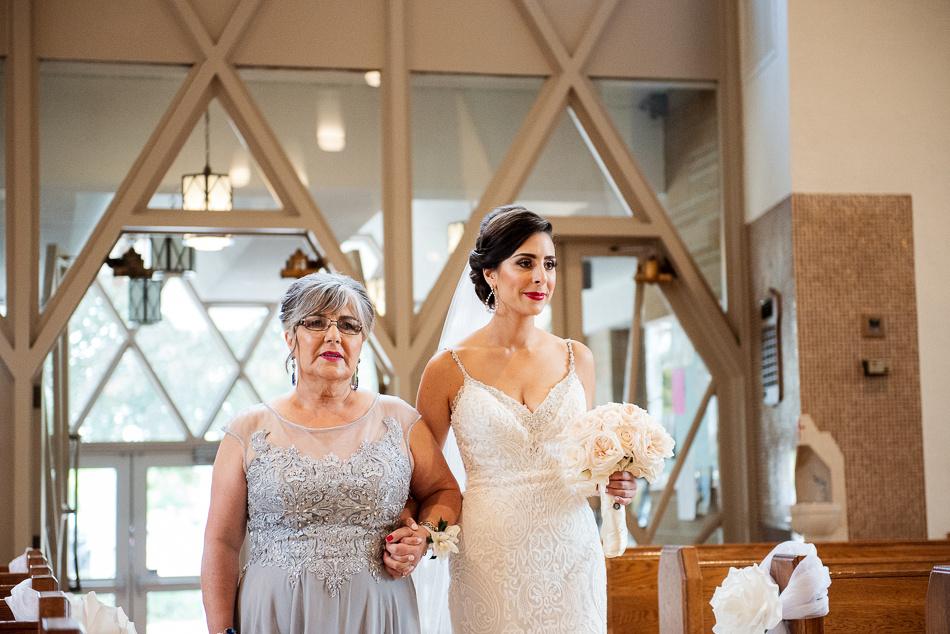 bride coming to reception