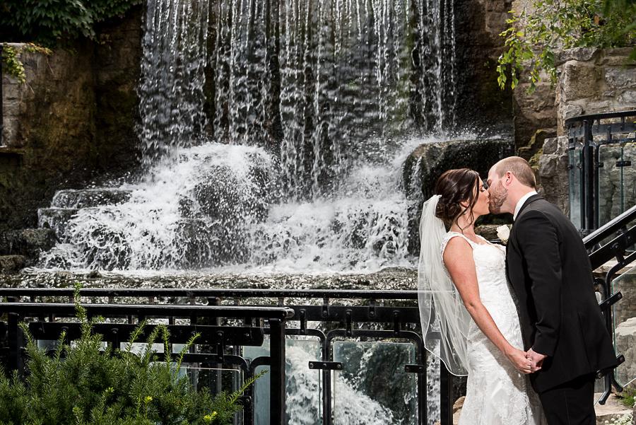 ancaster mill waterfall wedding