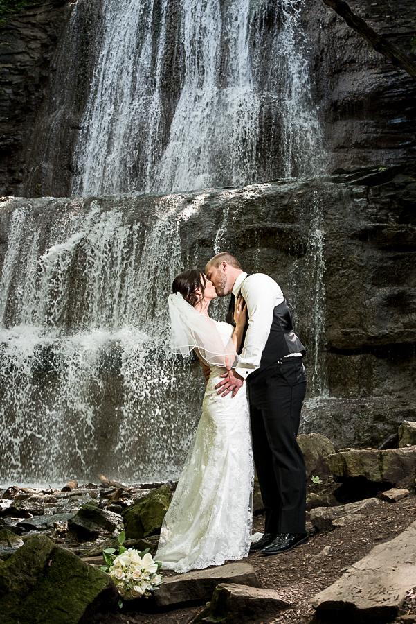 sherman falls wedding photo