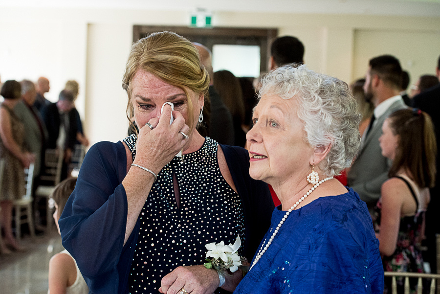 happy tears at wedding