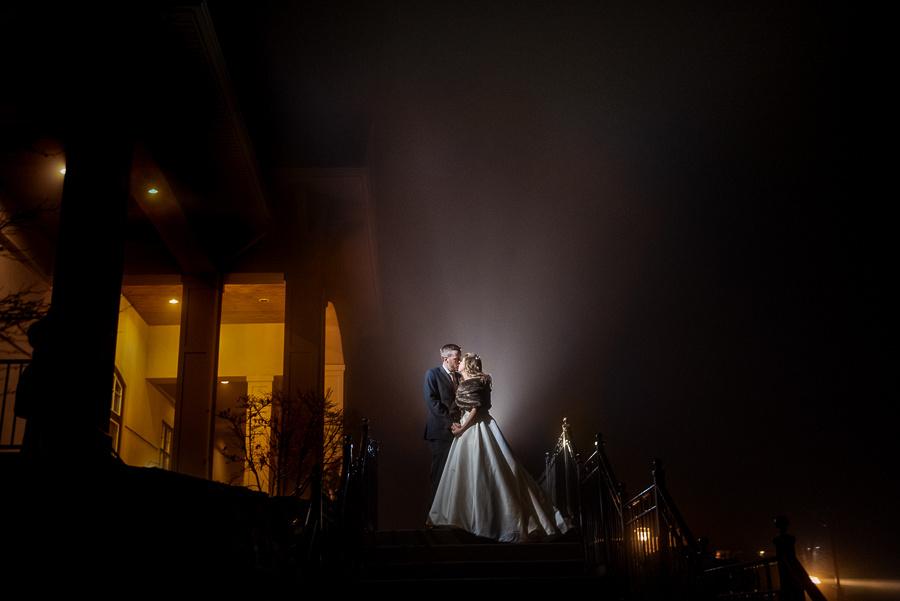 foggy wedding photo