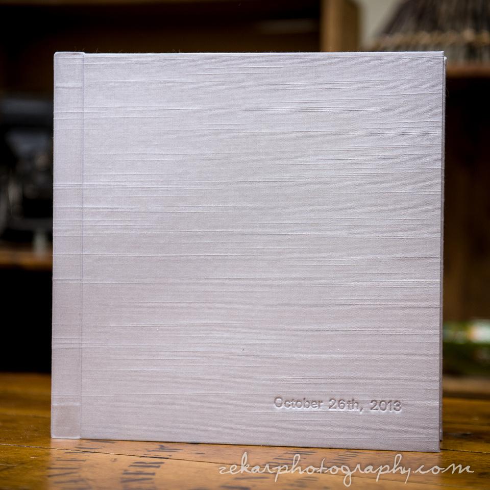 faux silk wedding album
