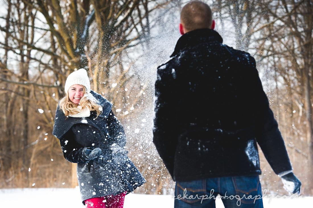 snowball fight engagement shoot